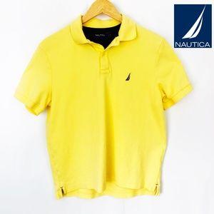 Mens Small Nautica yellow Short Sleeve Polo